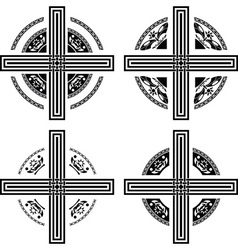 Set of fantasy crosses vector