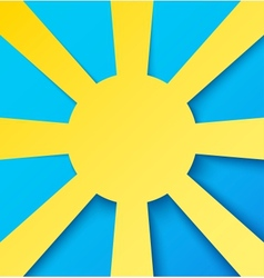 Abstract paper sun on blue sky vector image