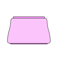 Pink makeup bag beautician package for cosmetics vector
