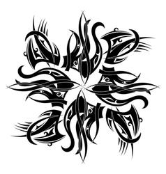 Round tattoo element vector image