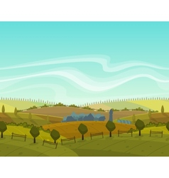 Spring seamless landscape background vector