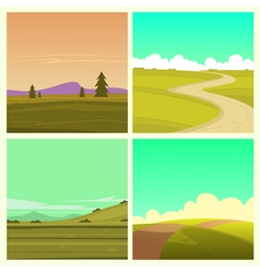 Cartoon landscape set vector