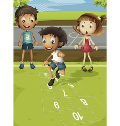 Hopscotch time vector image