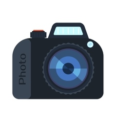 Digital photo camera isolated vector