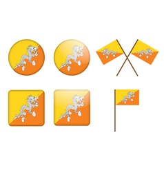 Badges with flag of bhutan vector