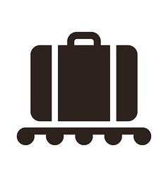 Baggage claim - travel icon vector