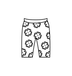 beach short isolated icon vector image