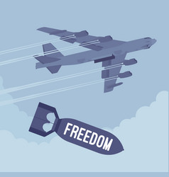Bomber and freedom bombing vector
