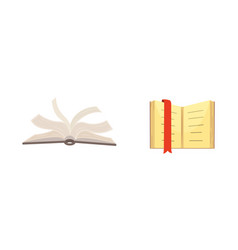 books set in cartoon design style isolated on vector image