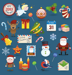 Christmas set2013 vector image