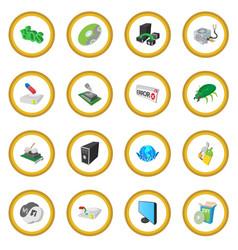 Computer service icon circle vector
