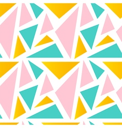 Cute colorful triangle seamless pattern background vector image vector image