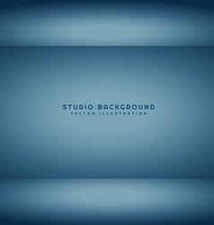 dark studio room vector image vector image