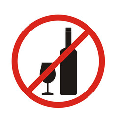 Do not drink icon no drink sign isolated on white vector