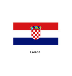 flag of croatia accurate dimensions vector image vector image