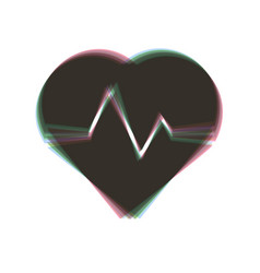 Heartbeat sign colorful icon vector