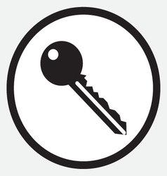 Key icon monochrome black white vector