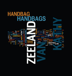 Kvzeeland text background word cloud concept vector