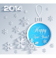 New Year card with Christmas ball decoration vector image