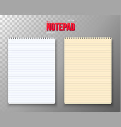 notepad set vector image vector image