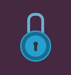 padlock icon vector image vector image