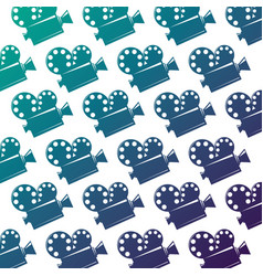 seamless pattern film cinema movie projector vector image