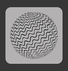 Sphere icon vector