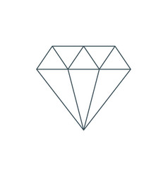 thin line diamond icon vector image vector image