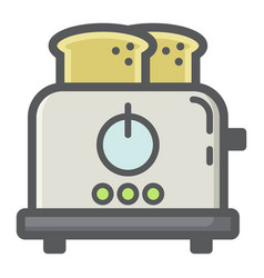 toaster colorful line icon kitchen and appliance vector image vector image