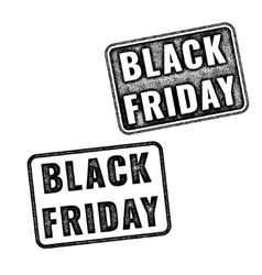 Two black realistic Black Friday stamps vector image vector image