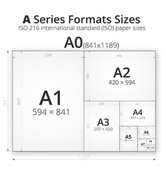with paper size of format A vector image vector image