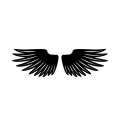 Pair of wings icon simple style vector image