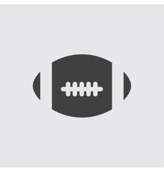 America football ball icon vector image