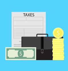 Taxation of business entrepreneurs vector