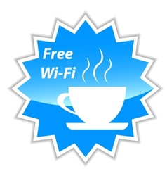 Free wi-fi label vector