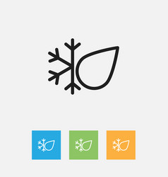 Of climate symbol on freeze vector