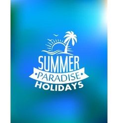 Summer paradise poster design vector