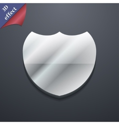 Shield icon symbol 3d style trendy modern design vector