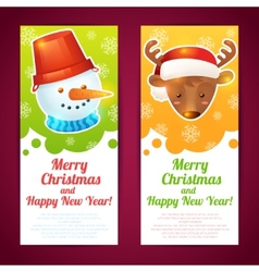 Christmas banner vertical vector