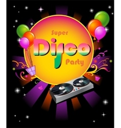 Stylish disco party banner vector