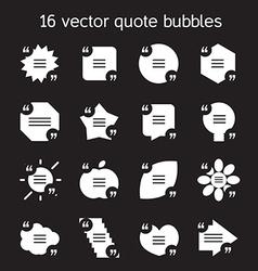 Square quote text bubbles set vector