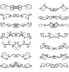 Hand draw calligraphic elements vector