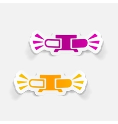 Realistic design element flasher vector