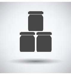 Baby glass jars icon vector image