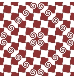 Spiral and square red seamless pattern vector