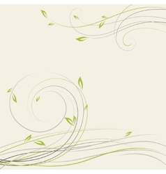 Abstract spring background with some plant swirls vector image