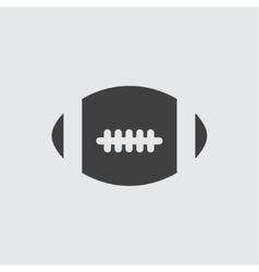 America football ball icon vector image