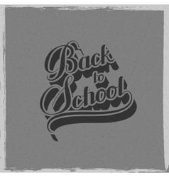 Back to school retro label vector