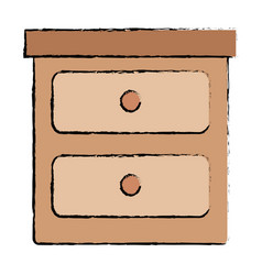 Bedroom drawer isolated icon vector
