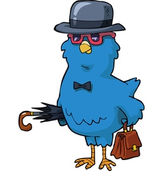 bird in the hat vector image